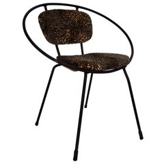 Children's Wrought Iron Hoop Chair, Attributed to Tony Paul