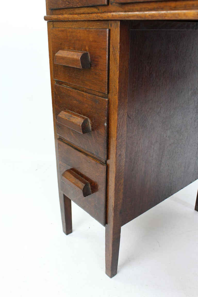 Childs Art Deco Oak Desk English Circa 1930s Vintage
