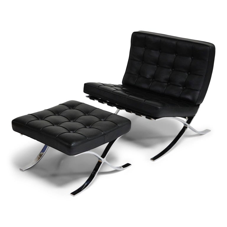Outstanding Childs Barcelona Chair And Ottoman By Mies Van Der Rohe For Caraccident5 Cool Chair Designs And Ideas Caraccident5Info