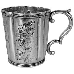 Hand Crafted Repousséd Child's Cup by Tift & Whiting in Coin Silver