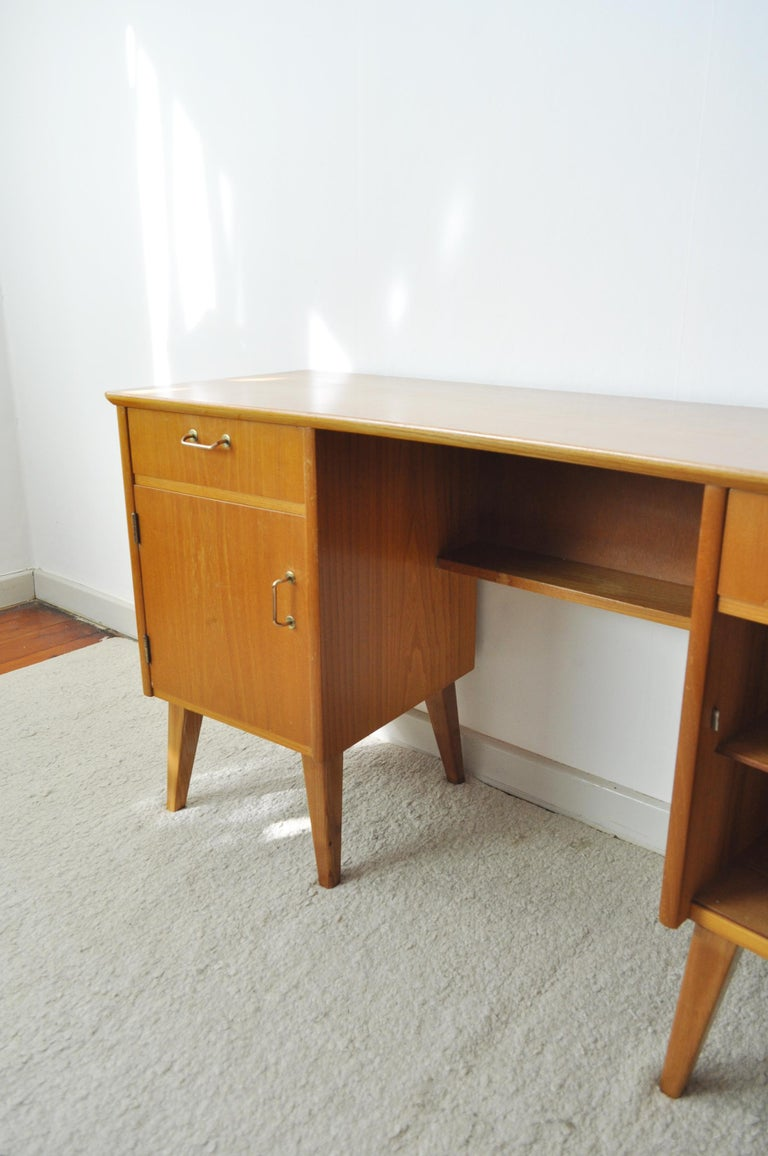 Childs Executive Desk in Ash with Bowed Top, 1950s For Sale 4