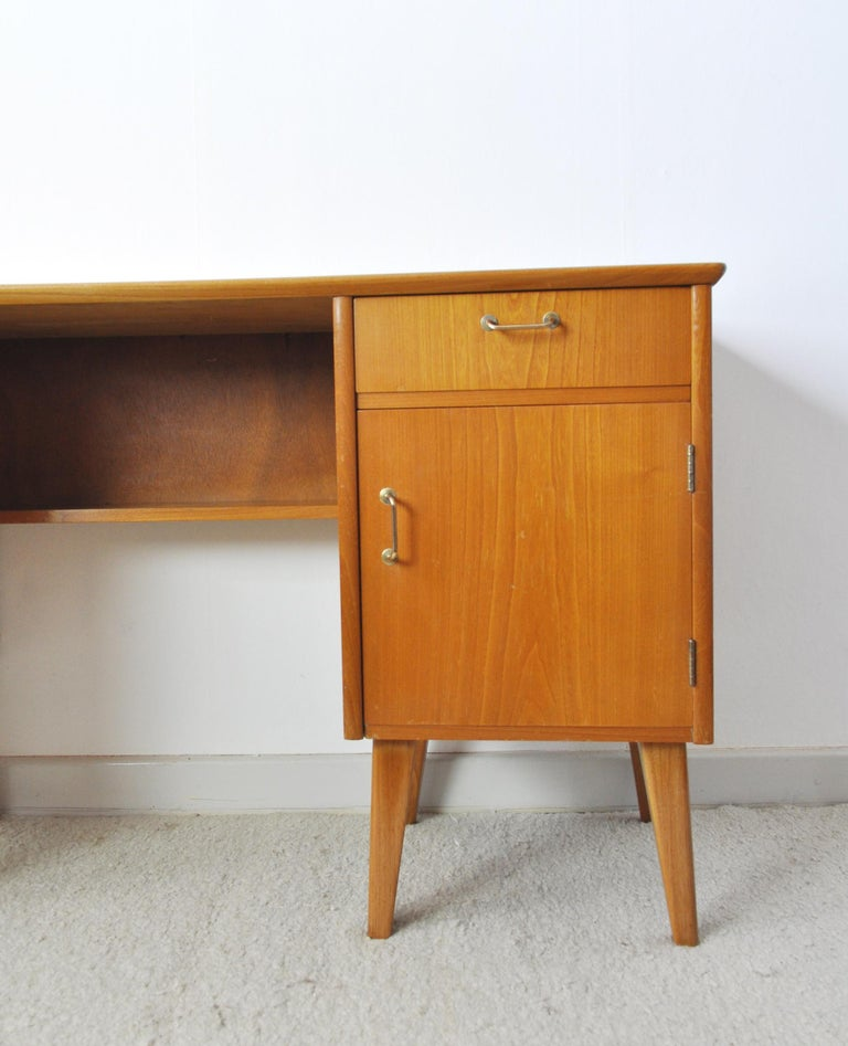 Childs Executive Desk in Ash with Bowed Top, 1950s For Sale 1