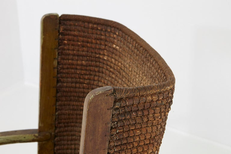 Child's Orkney Chair with Hand Woven Straw Back, Scotland, 19th Century For Sale 4