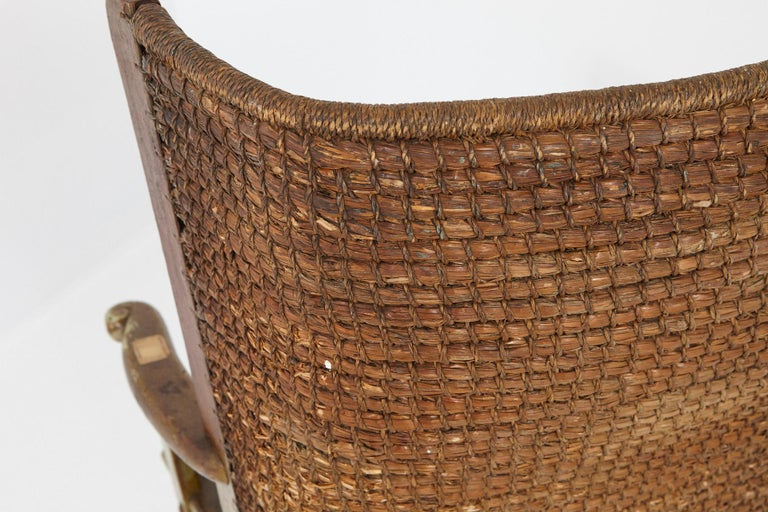 Child's Orkney Chair with Hand Woven Straw Back, Scotland, 19th Century For Sale 6