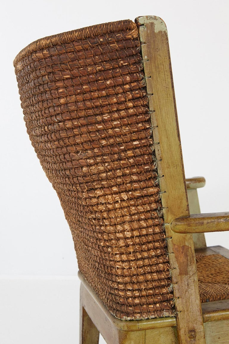 Child's Orkney Chair with Hand Woven Straw Back, Scotland, 19th Century For Sale 7