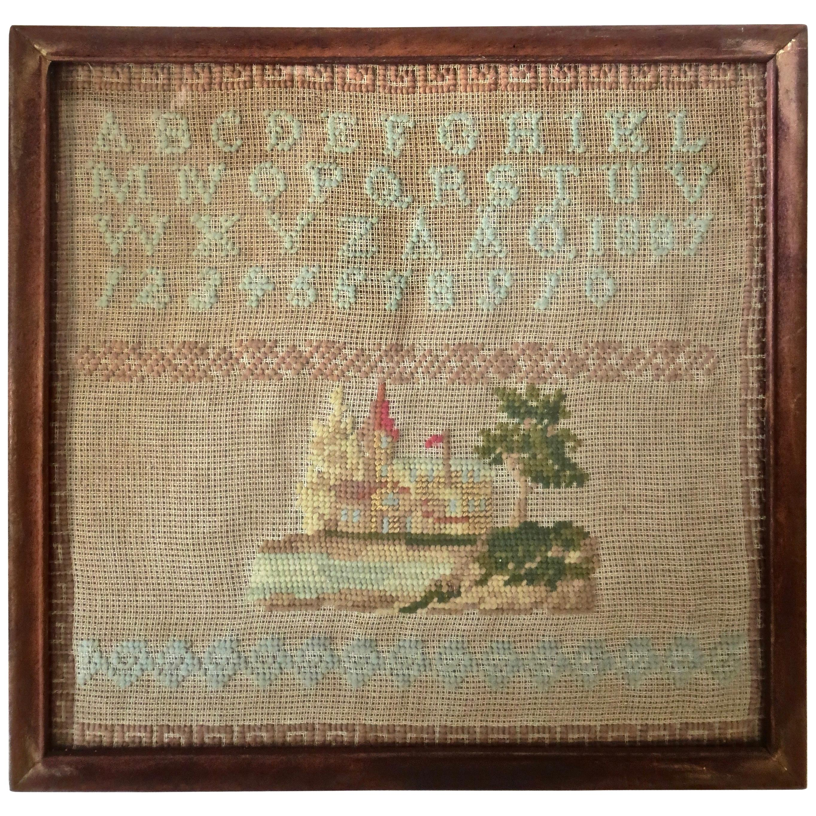 """Child's Sampler, American Dated """"1887"""""""