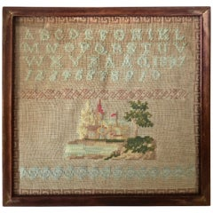 "Child's Sampler, American Dated ""1887"""