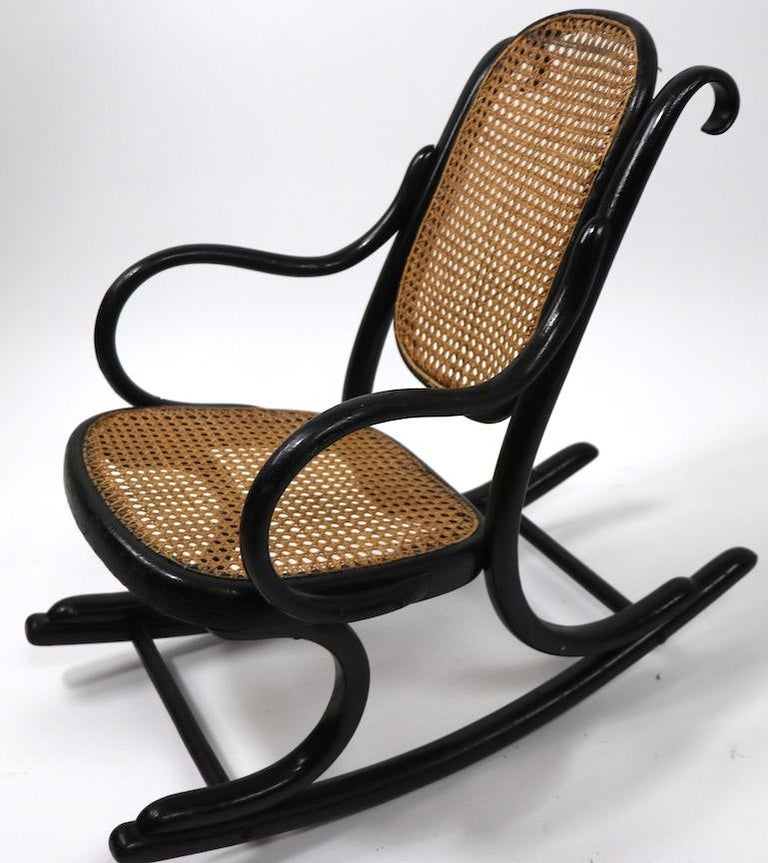 Vienna Secession Childs Thonet Rocker For Sale