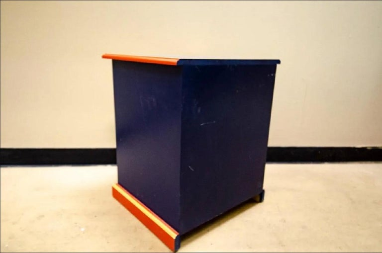 Child's Toy Soldier Design Hand Painted Nightstand In Fair Condition For Sale In NYC, NY