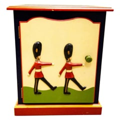 Child's Toy Soldier Design Hand Painted Nightstand