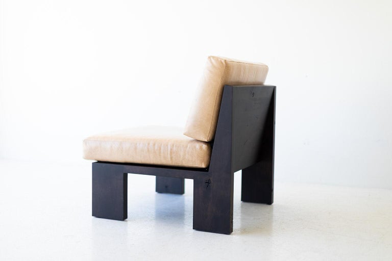 Hardwood Chile Modern Side Chair For Sale