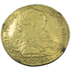 Chilean 1791 Eight Escudos Gold Coin