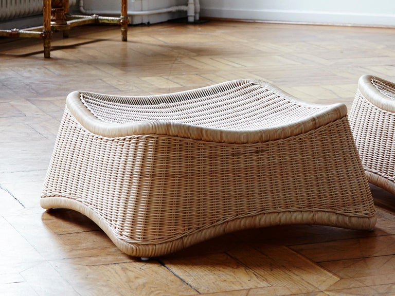 Scandinavian Chill Lounge Chair and Ottoman by Nanna Ditzel, New Edition For Sale