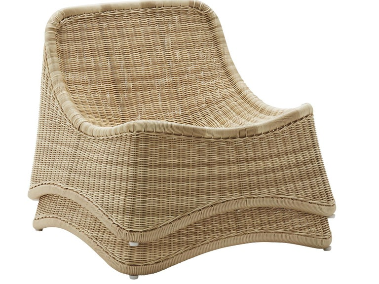 Mid-20th Century Chill Lounge Chair and Ottoman by Nanna Ditzel, New Edition For Sale