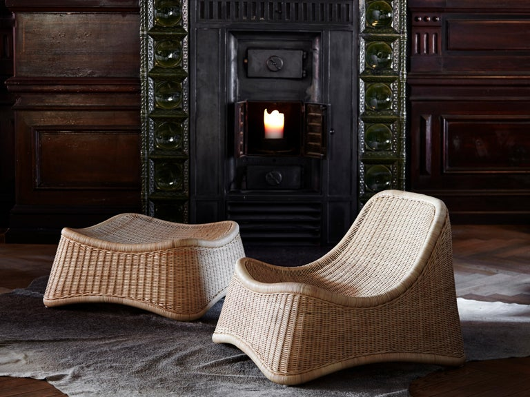 Chill Lounge Chair and Ottoman by Nanna Ditzel, New Edition For Sale 1