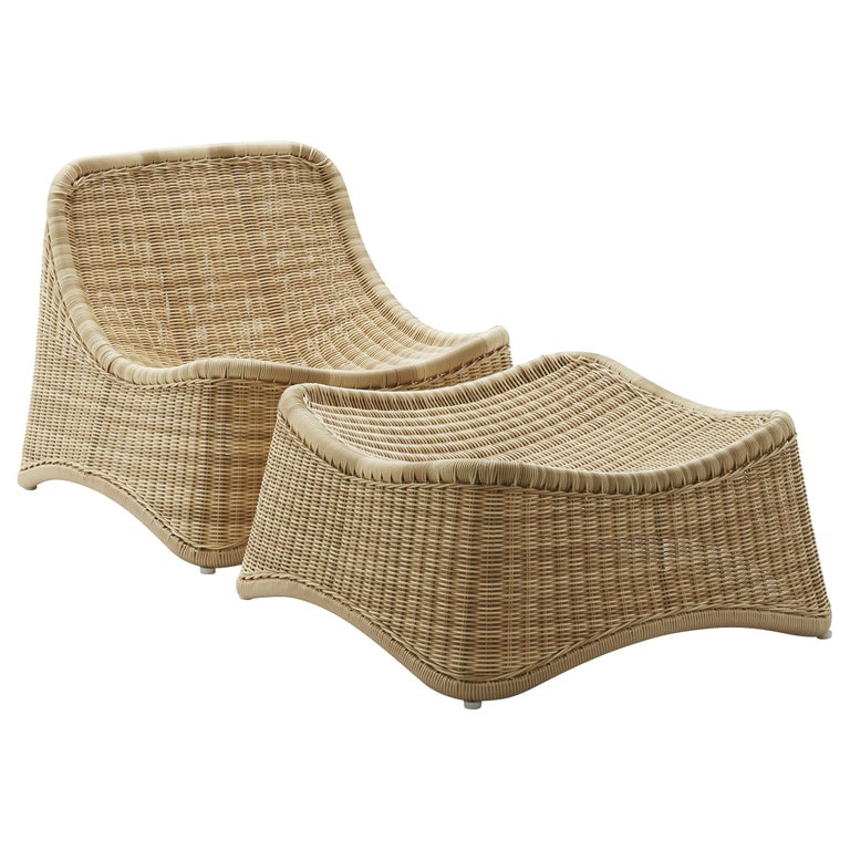 Chill Lounge Chair and Ottoman by Nanna Ditzel, New Edition For Sale