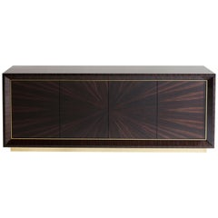 Davdson's Chiltern Cabinet, in Dark Macassar Ebony with Polished Brass Detailing