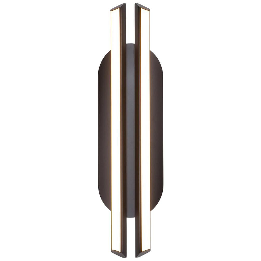 Chime Capsule Sconce, Black Vertical Geometric Modern Led Sconce Light Fixture