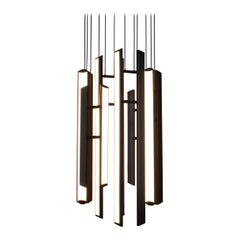 Chime Chandelier, Geometric Modern Vertical Chandelier LED Light Fixture