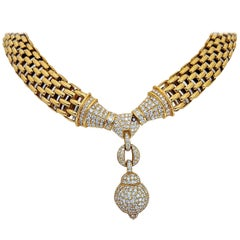 Chimento 18 Karat Yellow Gold and 5.88 Carat Diamonds Necklace