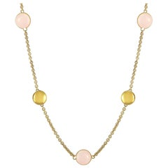 Chimento 18 Karat Yellow Gold Rose Quartz Necklace