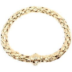 Chimento 18 Karat Yellow Gold Stretch Spring Bracelet