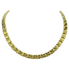 Chimento 18 Karat Yellow White Gold Reversible Ladies Fancy Link Necklace