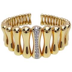 Chimento 18 Karat Yellow Gold and .69 Carat Diamond Cuff Bracelet