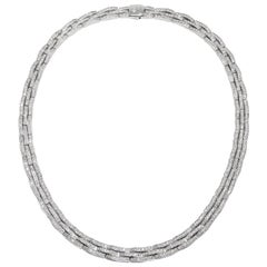 Chimento Articulate 18k White Gold and Diamond Necklace