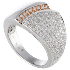 Chimento Desiderio 18 Karat White Gold Diamond Pave Band Ring