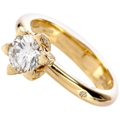 Chimento Italian Contemporary GIA F-VS1 Diamond Solitaire 18 Karat Ring