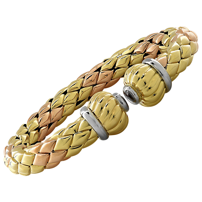 Chimento Italy Tri-Color Bangle Bracelet