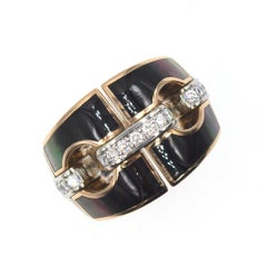 Chimento Noblesse Diamond Mother-of-Pearl 18 Karat Gold Ring