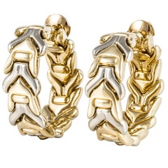 Chimento Two-Tone Gold Hoop Earrings