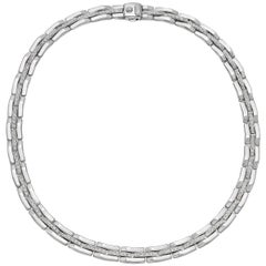 Chimento White Gold Diamond Link Necklace