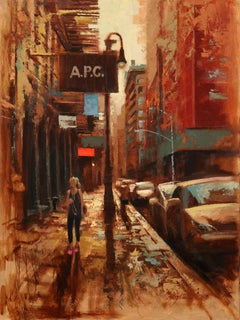 Prince Street After Shower, Painting, Oil on Canvas