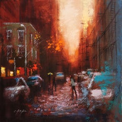 SOHO SUNSET, Painting, Oil on Canvas
