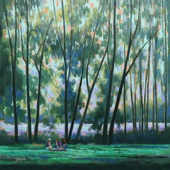 THE PICNIC, Painting, Oil on Canvas