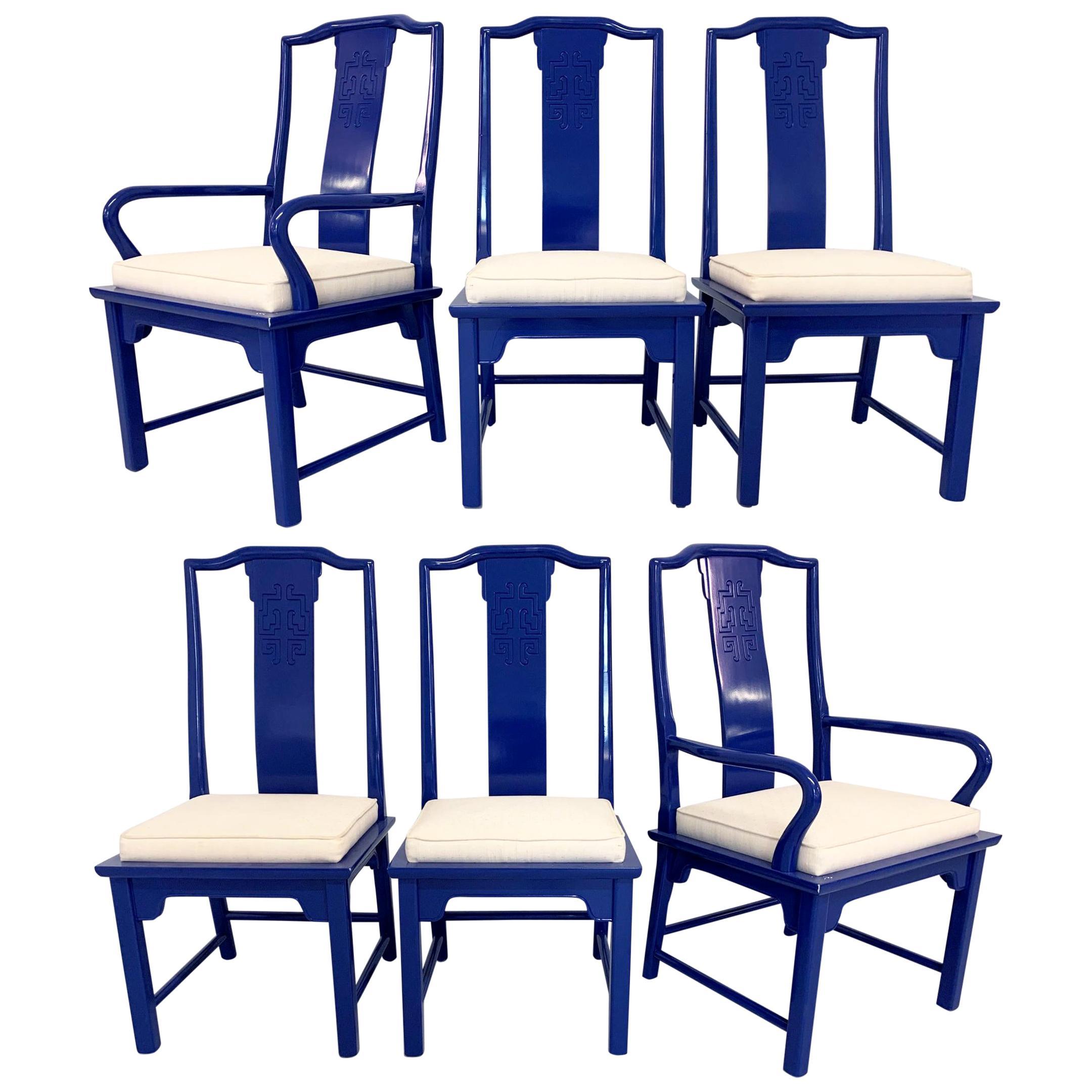 Chin Hua Asian Dining Chairs by Raymond Sabota for Century Furniture