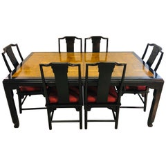 Chin Hua Dining Room Table Set by Ray Sabota for Century Furniture