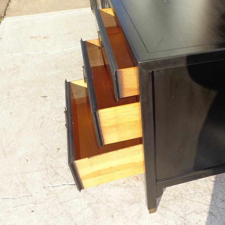 Ebonized Chin Hua Dresser Credenza by Century Furniture For Sale