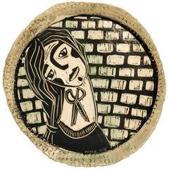 Chin Up, Carved porcelain
