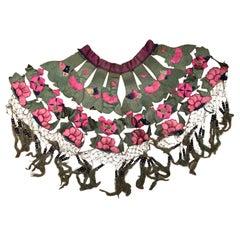China Antique Vibrant Colors Hand Sewn Fancy Collar Textile