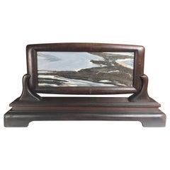"China Beautiful Natural ""Mountain Waters Painting"" with Handsome Custom Frame"
