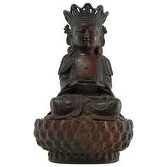 China Eighteenth Century, Bronze Statuette of Bodhisattva in Ming Style