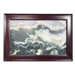"China Haunting Cloudy Mountains Natural Stone ""Painting"""
