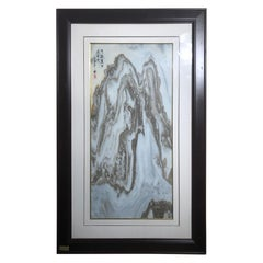 """China MOUNTAIN TOPS Natural Stone """"Painting"""", One-of-a- Kind"""