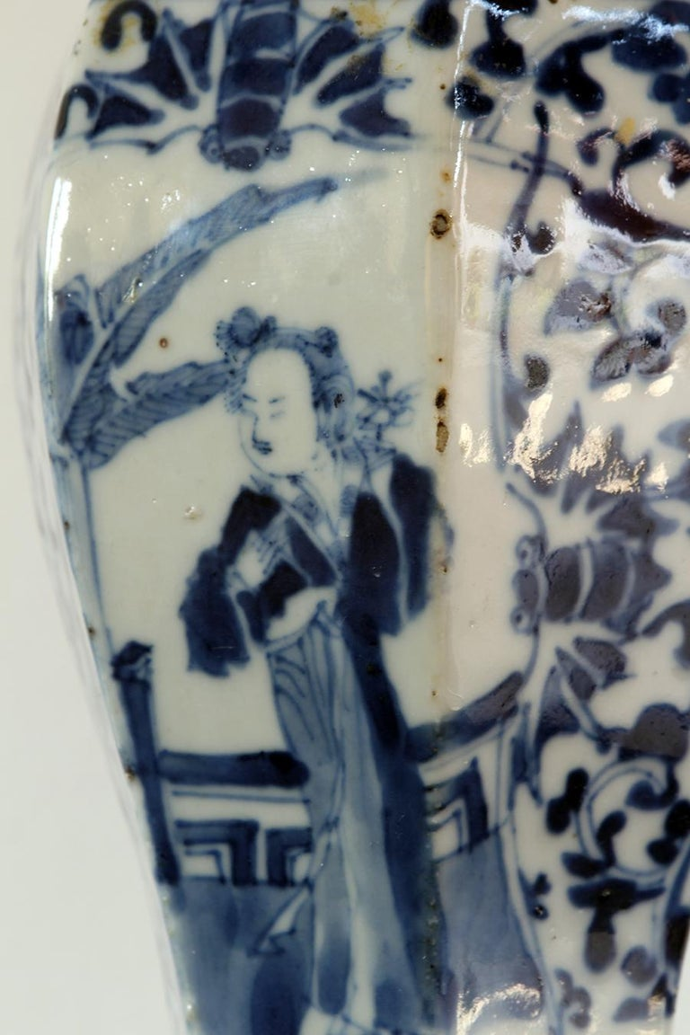 China Small Blue and White Chinese Porcelain Vase In Good Condition For Sale In Brescia, IT