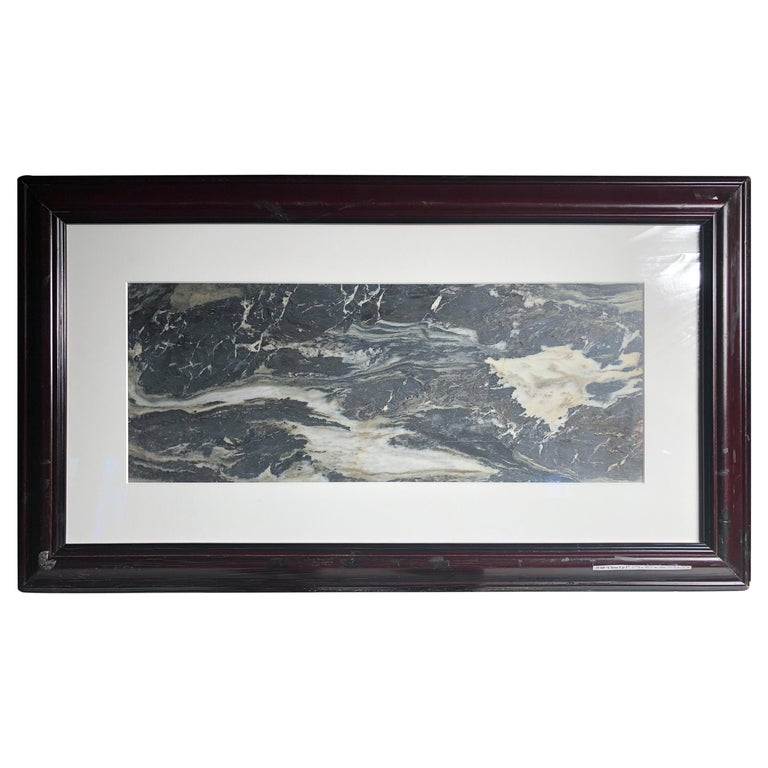 """China Water and Rock Shoreline Extraordinary Natural Stone """"Painting"""" One a Kind For Sale"""