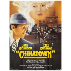 """Chinatown"" R1970s French Grande Film Poster"